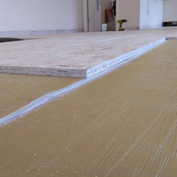 Tecsound 50 Acoustic Membrane on a floor