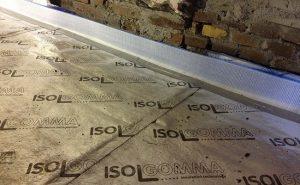 Roll Radiant installed on subfloor